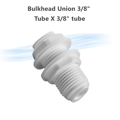 "Bulkhead Union 3/8"" Tube X 3/8"" tube"