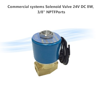 "Commercial systems Solenoid Valve 24V DC 8W,  3/8"" NPTFPorts"