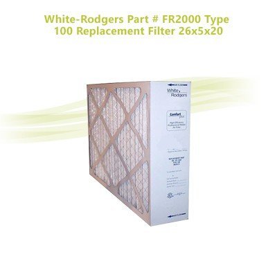 White-Rodgers Part # FR2000 Type 100 Replacement Filter 26x5x20