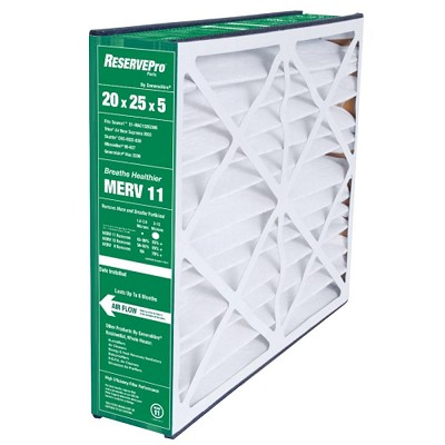 "Generalaire 4501 / 4551 Furnace Filter 20x25x5 MERV 10 / 11. Filter Upgraded to MERV 11. Actual Size 19 5/8"" x 24 3/16"" x 4 15/16."" Case of 3."