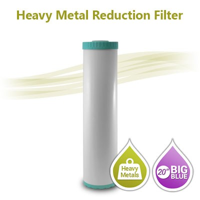 "Big Blue KDF/Carbon Heavy Metal Removal Filter – Size 20""x 4.5"""